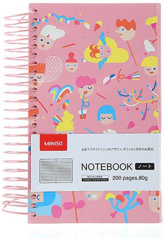 9724fa7dd4a Miniso British Doll Cartoon Series Large Size Spiral Notebook