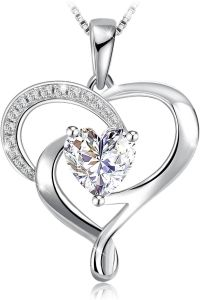 Swarovski Elements 925 Sterling Silver Pendant Necklace for female wom...