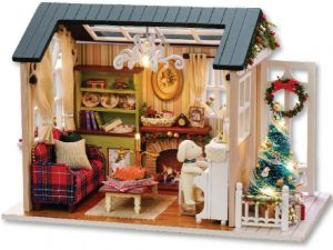 Diy Handmade Miniature Furniture Doll House 3D Wooden Doll House Toys For  Christmas And Birthday Gift
