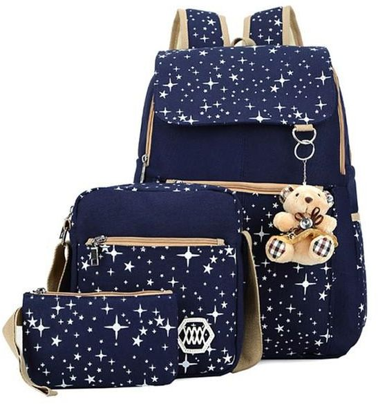 Three-piece backpack schoolbag set fashion waterproof cute children girls  handbag crossbody bag d23ab70152424