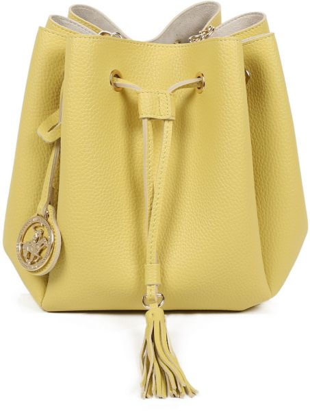 Beverly Hills Polo Club Bucket Bag For Women Yellow