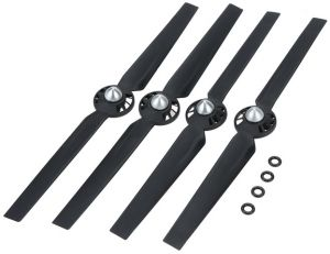 0a0ddb122b5 2 Pairs ABS Propellers with Motor Pad for YUNEEC Typhoon Q500 Q500M Q5004K  RC Quadcopter-black