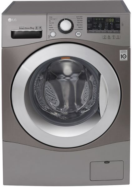 Lg Front Load Washing Machine Silver 9 Kg Silver