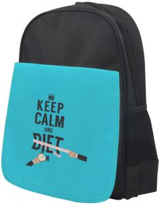 keep Calm   diet Printed school bag for kids 146ea985492eb