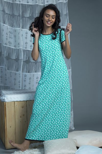 Zivame Nightgown For Women - Multi Color  1579b2286