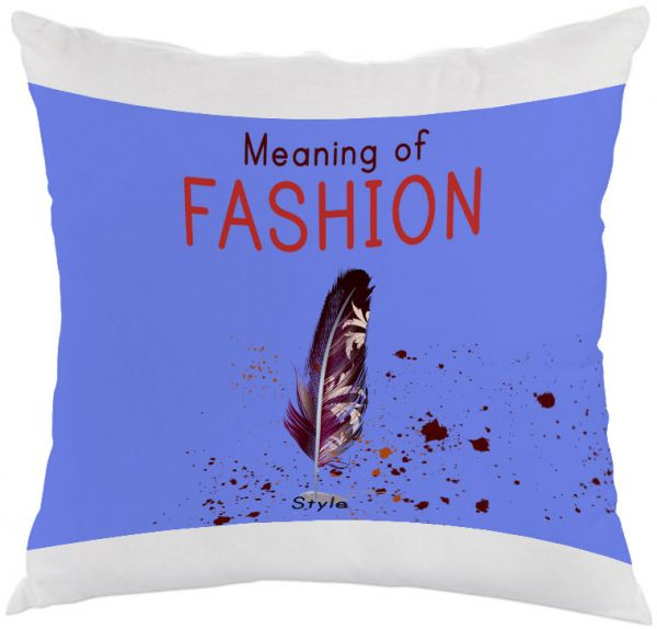 Meaning of Fashion Printed Pillow, white velvet Fabric 40X40 cm