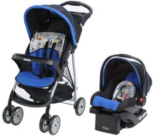 Graco Lite Rider Click Connect Infant Travel System Stroller With Car Seat