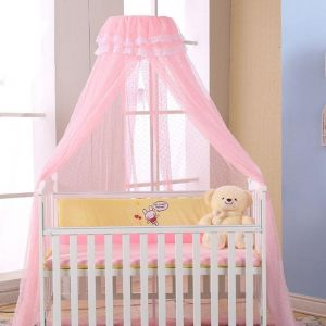 Just Baby Princess Nets Hanging Round Lace Canopy Baby Bed Netting Comfy Infant Crib Netting For Crib Full Queen Bed Baby Sleep S3 Baby Bedding Crib Netting