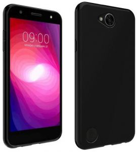Silicone Back Case Cover By Ineix For LG K10 Power(LG X power2) - BLACK