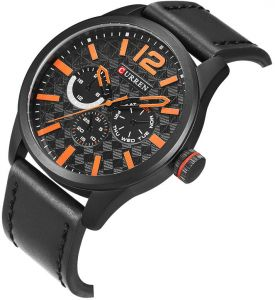 Curren Casual Watch For Men Analog Leather   8247