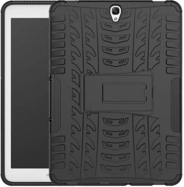 the latest f109f 6ce80 For Galaxy Tab S3 9.7 Case 2-in-1 Tyre Pattern PC + TPU Hybrid Kickstand  Cover for Samsung Galaxy Tab S3 9.7-inch T820 - Black