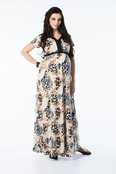 a7c0cf6aad5 Blue Pink Fashion Maternity Dress For Women