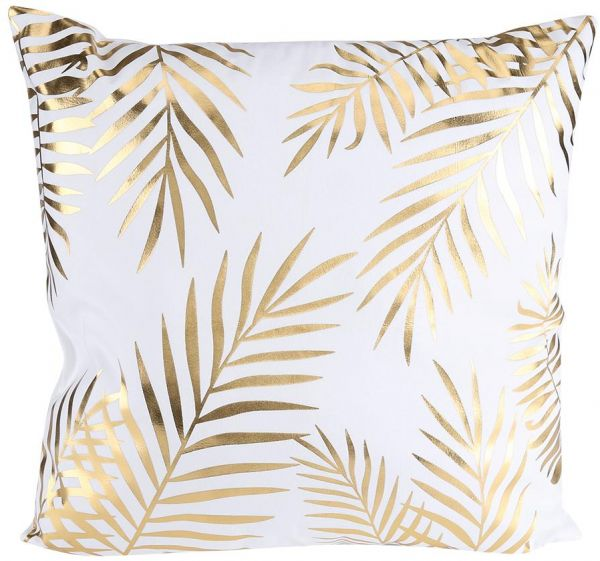 Vintage Printing Bronzing Linen Cotton Pillow Case Sofa Throw Cushion Cover Home Decor Leaves