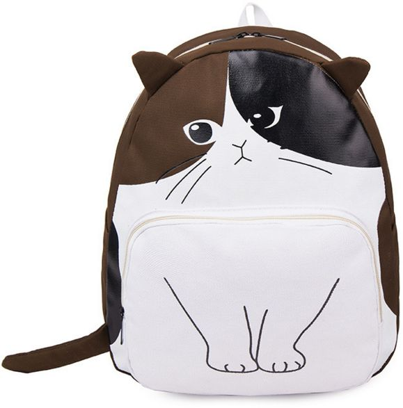 Funny cartoon cat backpack personality Backpack Travel Bag student bag  BB042  695a15b42ea67