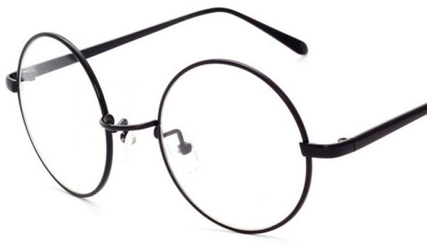 f94e7f21dd9 Korean Style Black Frame Flat Glasses Classic Vintage Round Clear Lens  Eyewear With Case