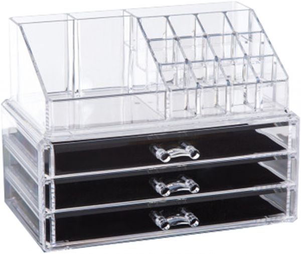 Clear Acrylic Cosmetic Organizer Makeup Holder Display Jewelry