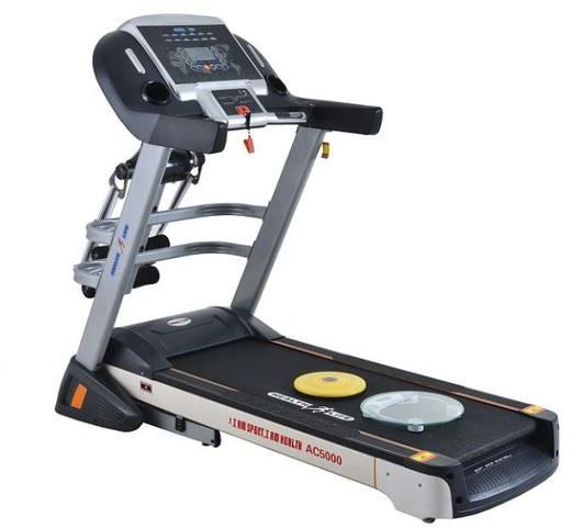 المشاية الرياضية الكهربائية Health Life AC5000 Multi-function Treadmill With Personal Scale -180 KG, Automatic Incline, 5 Horse Power, Black/ Grey من سوق كوم مصر