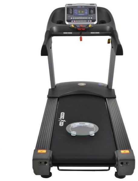 المشاية الرياضية الكهربائية  Health Life AC7000 Club AC Commercial Treadmill With Personal Scale -250 KG, Automatic Incline, 7 Horse Power, Black Grey من سوق مصر