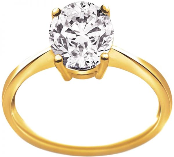 Pure Gold Jewellers Women's 18K Gold 1 ct. Solitaire ...