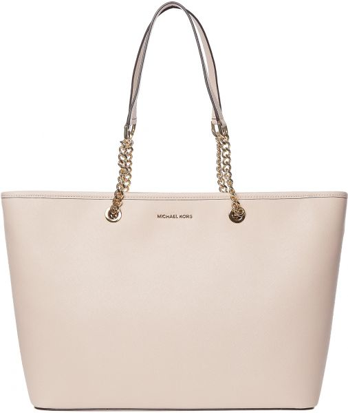 Michael Kors Leather Tote Bag for Women - Soft Pink