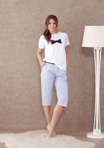 8c8f71205a11 Marie Claire Blue   White Sleepwear Set For Women