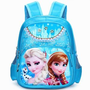 97b7182f1a285 Frozen Elsa School Backpack Blue for 2-5years Kids BLUE