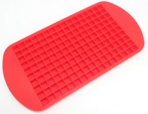 160 Ice Cubes Frozen Cube Bar Pudding Silicone Tray Mould Mold Tool, Red | Souq - UAE