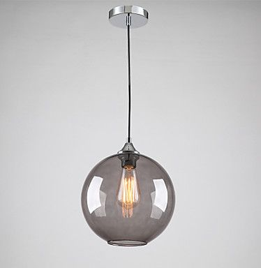 Shanny Round Pendant Light Smoke Gray Color Hanging For Checkout Counter Food Count Coffee Fashion