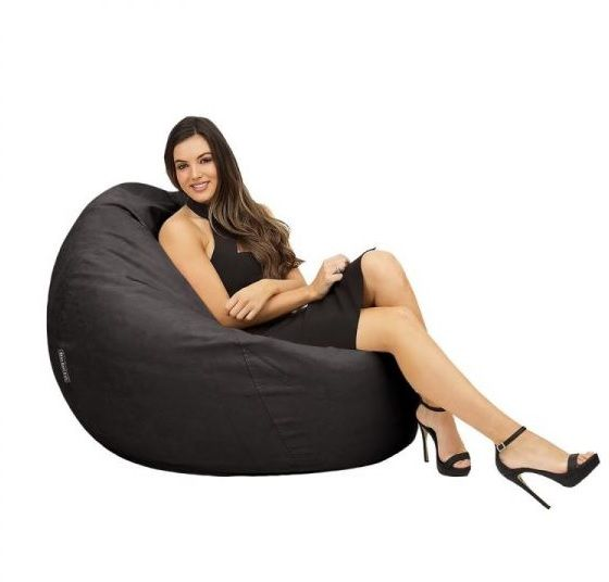 Comfy Suede Black Bean Bag Price Review And Buy In Dubai Abu