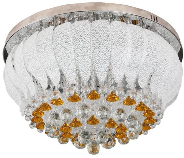 Modern round crystal chandeliers flush mount ceiling lamp led chandeliers flush mount ceiling lamp led stainless steel lustre hanging lights fixtures indoor lighting with multi color and bluetoothusb music player aloadofball Gallery
