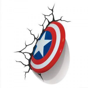 3D Light FX Marvel Captain America Shield 3D Deco LED Wall Light ‫(640