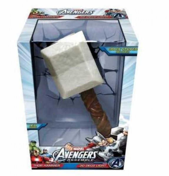 Souq 3d light fx the avengers 3d wall art nightlight thor hammer 3d light fx the avengers 3d wall art nightlight thor hammer 64017 mozeypictures Image collections