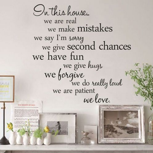 Souq House Rules Quote Wall Stickers Home Decor Living Room Diy Wall Art
