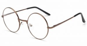 3574d8d0595e Round Glass Frame for Unisex - Brown