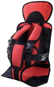 Portable Baby Car Safety Booster Seat Cover Cushion Harness Red