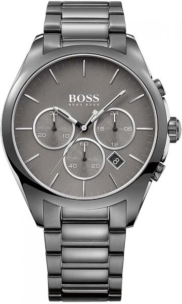 6297c98275e5 Hugo Boss Onyx Men s Grey Dial Stainless Steel Band Watch - 1513364 ...