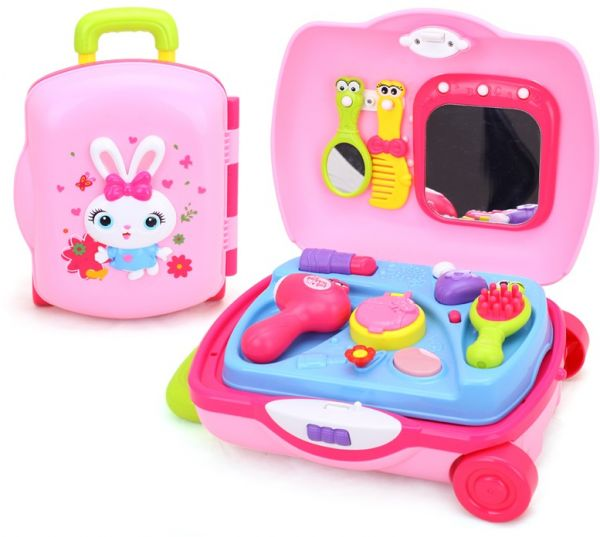 makeup suitcase beauty salon fashion makeup toy vanity play set for