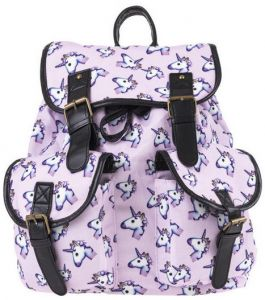 ce784687072f Vintage Women Backpack Unicorn Printing School Bags for Teenage Girls  Oxford Travel Daypack Two Pockets Mochila