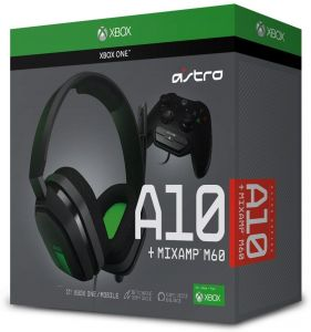0bed48300 ASTRO Gaming A10 Gaming Headset + MixAmp M60 - Green/Black - Xbox One/Mobile