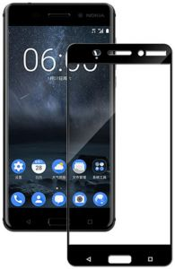 3D Full Screen Surfaces Tempered Glass Screen Protector By Ineix For Nokia  6 - Black