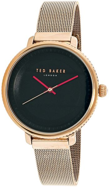 8d29e5e94 Ted Baker Isla Women s Black Dial Stainless Steel Plated Band Watch -  10031532