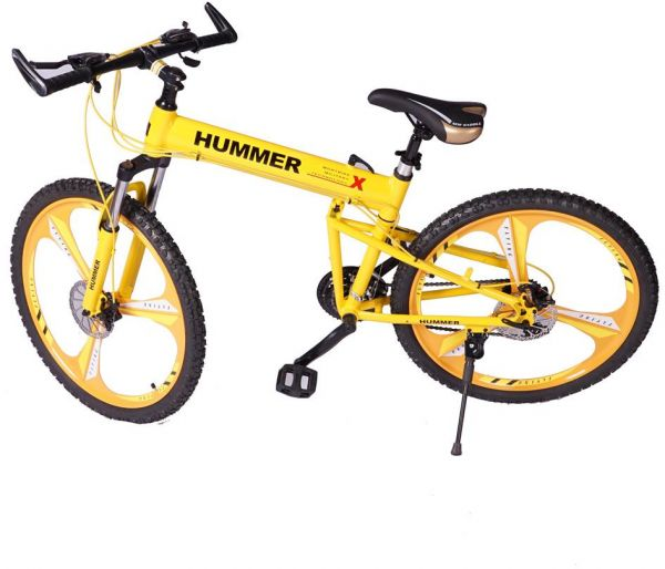 26 Photos 31 Reviews: Hummer Alloy 26 Inch Wheels Foldable Bicycle ,Yellow