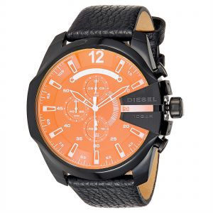 2a3ab8711684 Diesel Mega Chief for Men - Analog Leather Band Watch - DZ4323