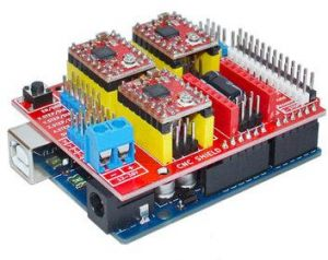 ARDUINO UNO R3 With 4pcs A4988 Driver With CNC Shield V3