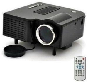 Black uc28 portable mini led projector home cinema theater for Apple projector price
