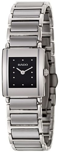rado Women's Black Dial Stainless Steel Band Watch - R20488172