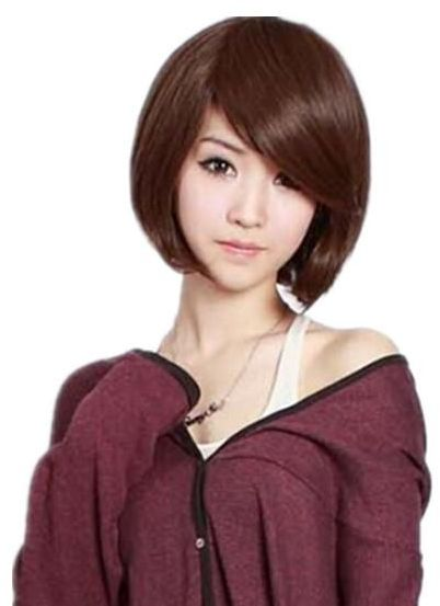 Fashion Korean Style Lady Bob Hairstyle Wigs Short Straight