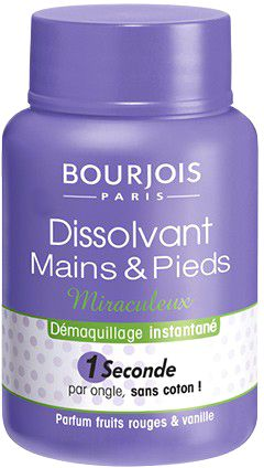 Bourjois Solvent 2 In 1 Hands and Feet Nail Polish Remover - Blue, 75 ml