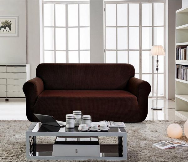 Home Decor Sofa Cover Seater for Two Chocolate Color price
