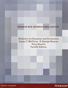 Statistics for Business and Economics: Pearson New International Edition ,Ed. :12